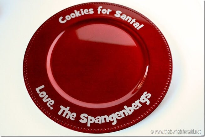 Personalized Cookies for Santa Plate at thatswhatchesaid.net
