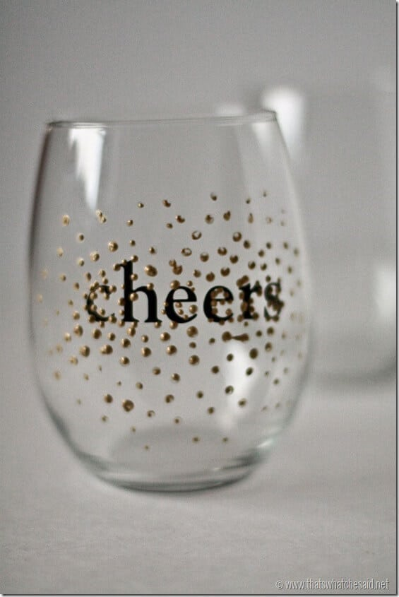 DIY Dot Wine Glasses 4