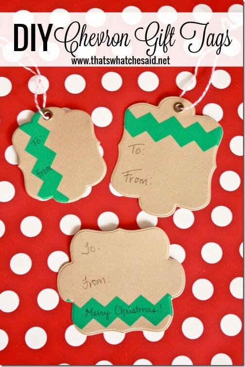 DIY Handmade Chevron Gift Tags at thatswhatchesaid.net