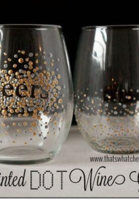 Handpainted Wine Glasses at thatswhatchesaid.net
