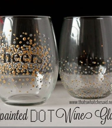 Handpainted Wine Glasses at thatswhatchesaid.net