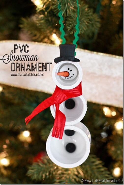 PVC Snowman Ornament at thatswhatchesaid.net