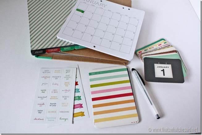 Recollections Calendar Kit1