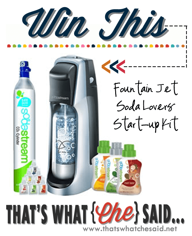 Soda Stream Giveaway at thatswhatchesaid.net