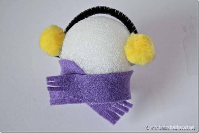Styrofoam Snowman 5