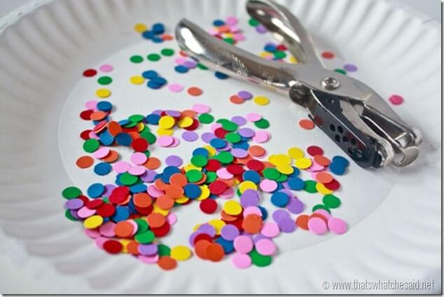 How to make your own Confetti Tape at thatswhatchesaid.net