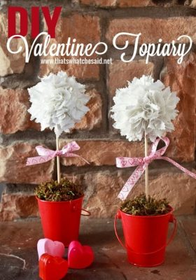 DIY Valentine Topiary at thatswhatchesaid.net