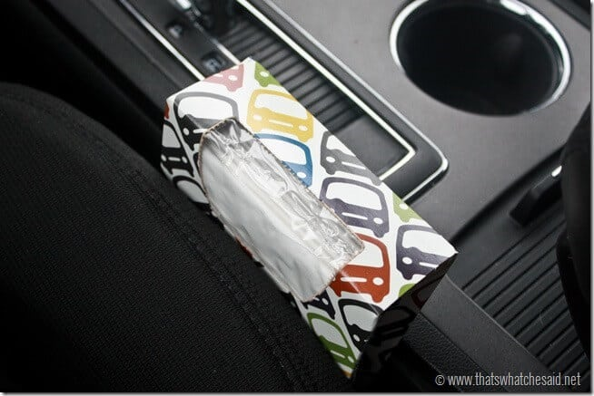 Car pack of Kleenex Tissue