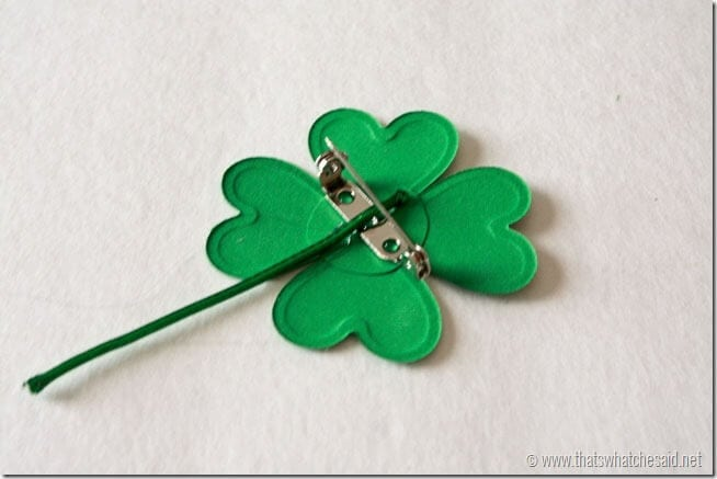DIY Shamrock Pin - Add Stem