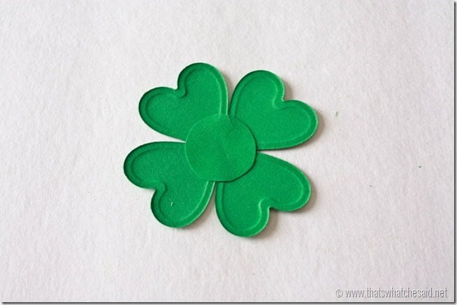 DIY Shamrock Pin Fasten together