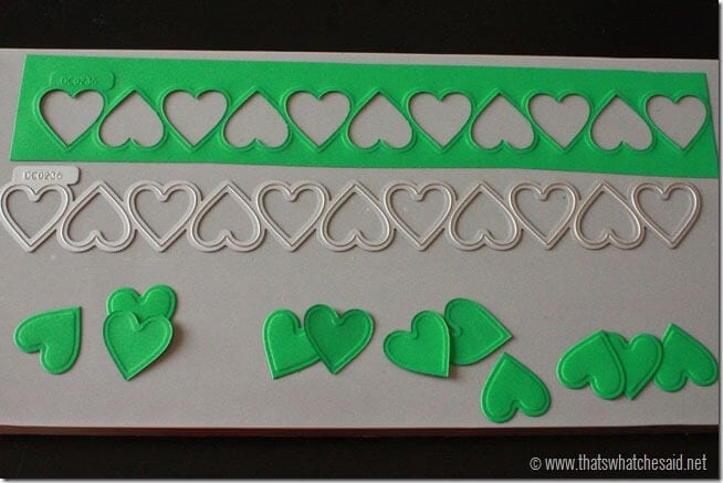DIY Shamrock Pin Heart cutouts