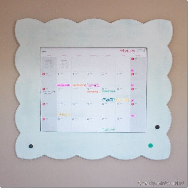 Framed Calendar for Organization at thatswhatchesaid.net