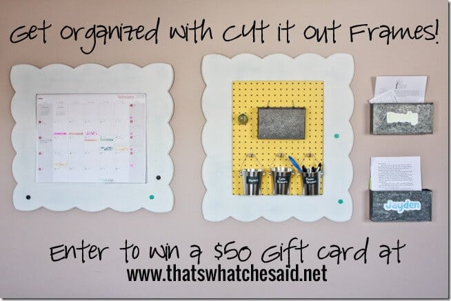 Giveaway - Cut It Out Frames at thatswhatchesaid.net