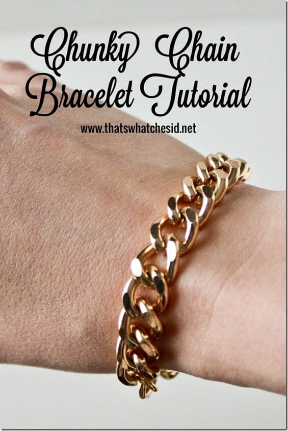 Chunky Chain Bracelet Tutorial at thatswhatchesaid.net