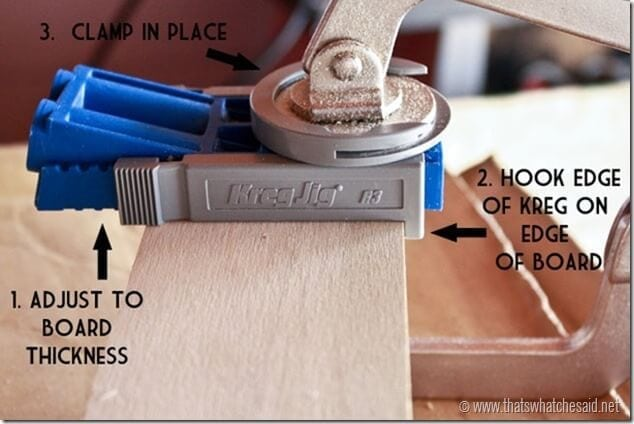 How to use a Kreg Jig to make DIY Book Ledges at thatswhatchesaid.net