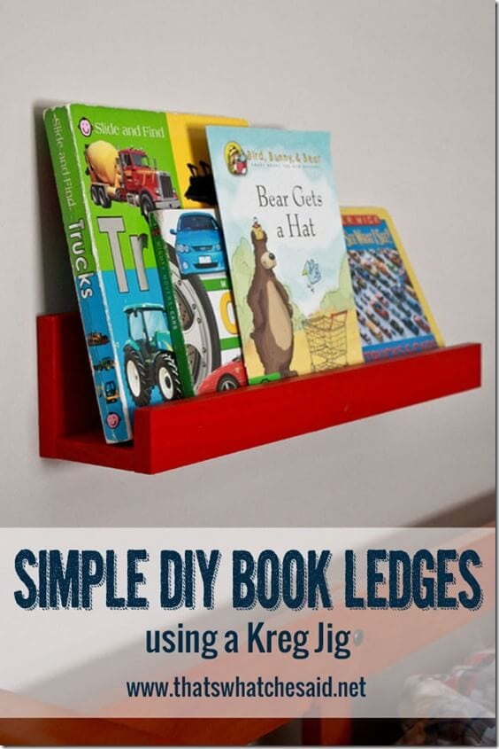 DIY Book Ledges at thatswhatchesaid.net