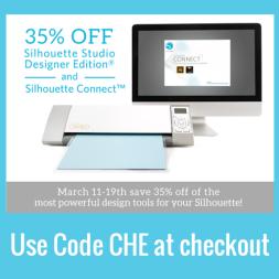 35% off Silhouette Studio® Designer Edition Software & Silhouette Connect™