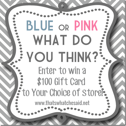 Gender Reveal $100 Gift Card Giveaway at thatswhatchesaid.net