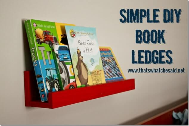Simple DIY Book Ledges at thatswhatchesaid.net