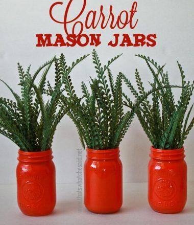 Carrot Mason Jar Centerpiece