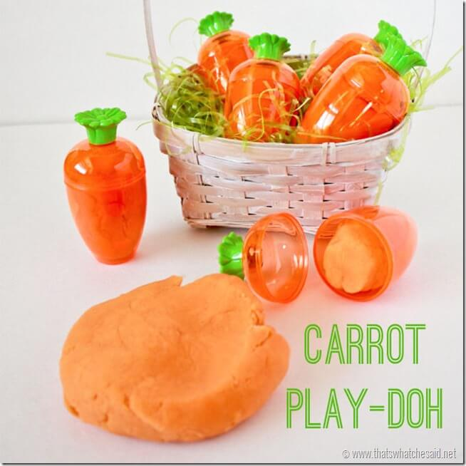 Easter Carrot Play-doh at thatswhatchesaid.net