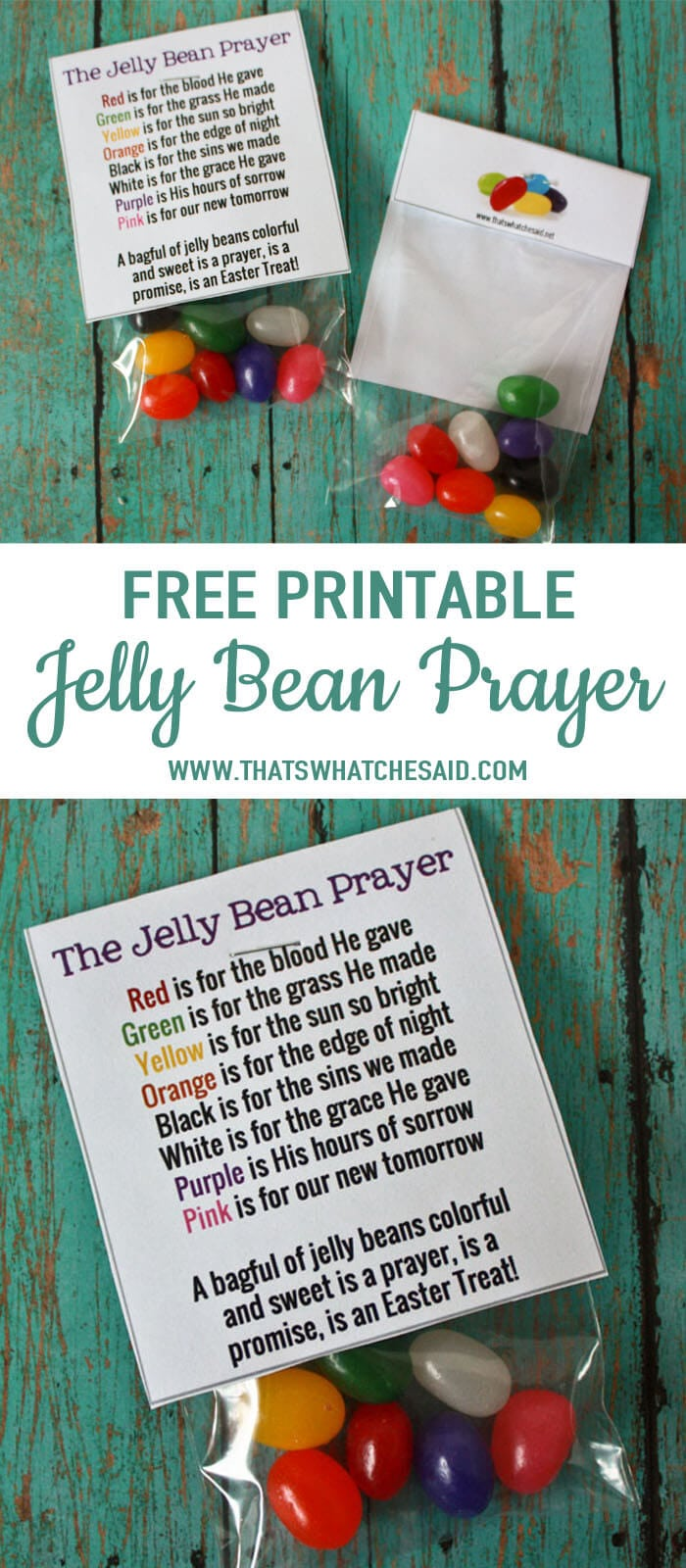 Sizzling image intended for jelly bean prayer printable