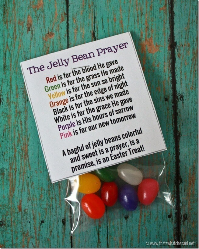 Jelly bean prayer free printable thats what che said free printable jelly bean prayer bag toppers negle Gallery