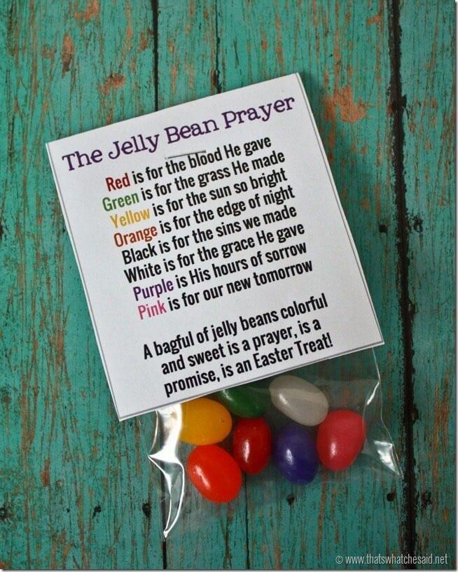 Jelly Bean Prayer Free Printable - That's What {Che} Said