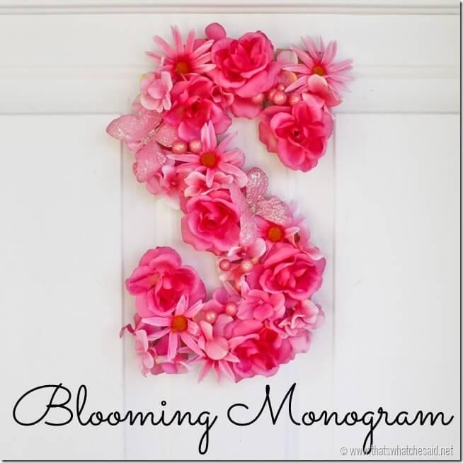 Blooming Monogram Door Hanging at thatswhatchesaid.net