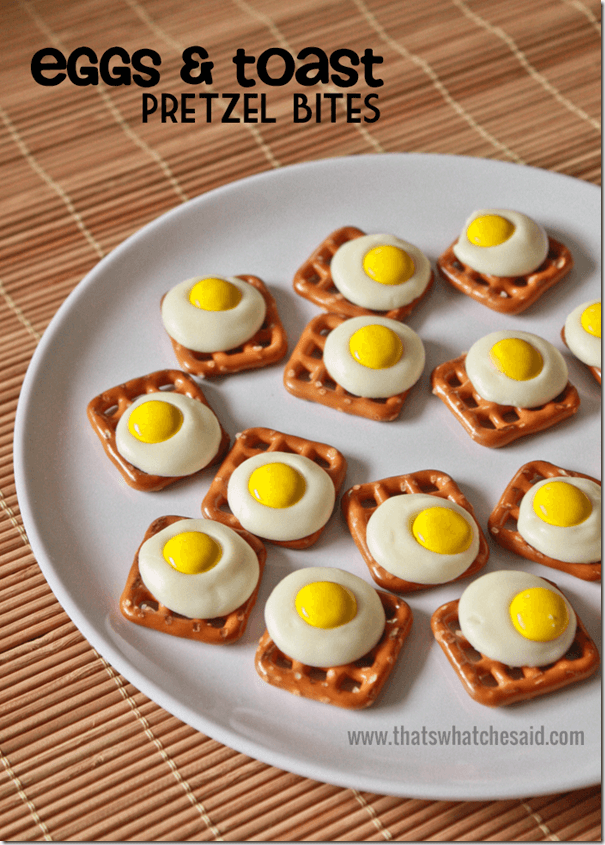 Eggs & Toast Pretzel Bites! A fun play on the sweet and salty mix!