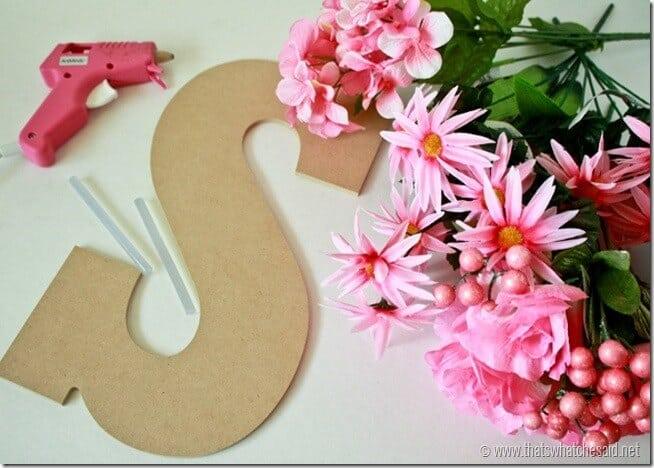 Flower Door Monogram at thatswhatchesaid.net