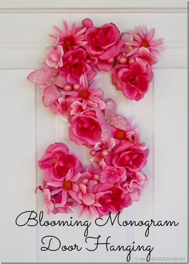 Flower Monogram at thatswhatchesaid.net