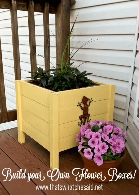 how to make your own planter box