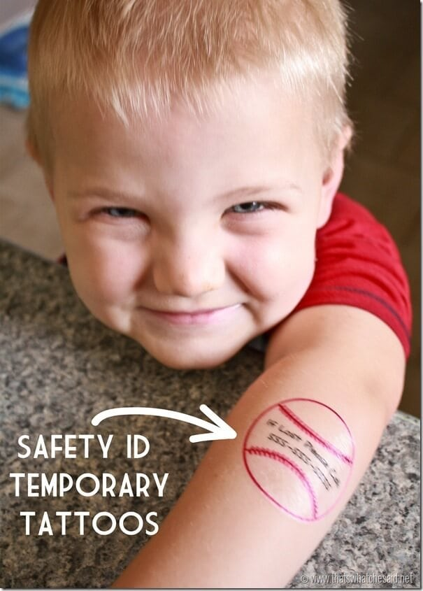 Temporary Tattoos - Safety ID