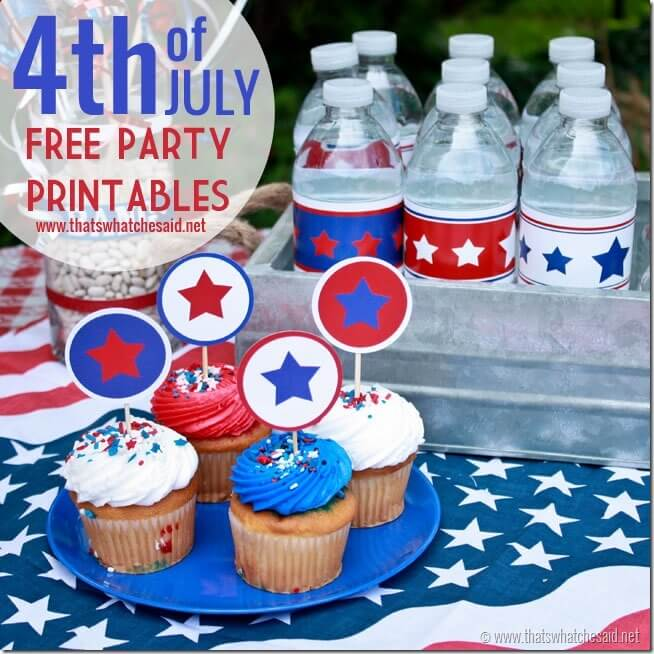 FREE Patriotic Party Printables at thatswhatchesaid.net