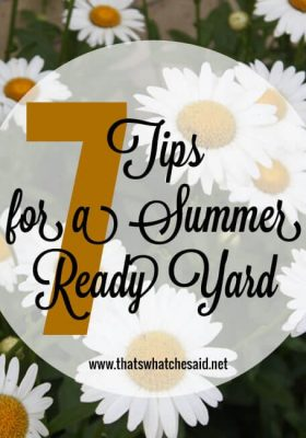 7 Tips for A Summer Ready Yard at thatswhatchesaid.net