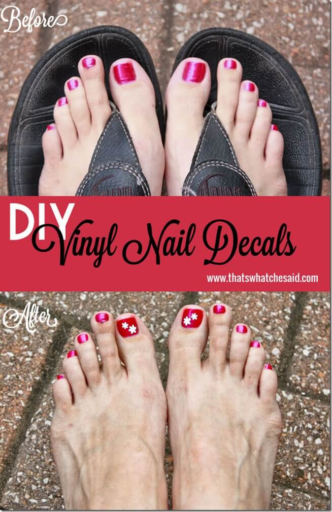 DIY Nail Decals with Silhouette at thatswhatchesaid.net.