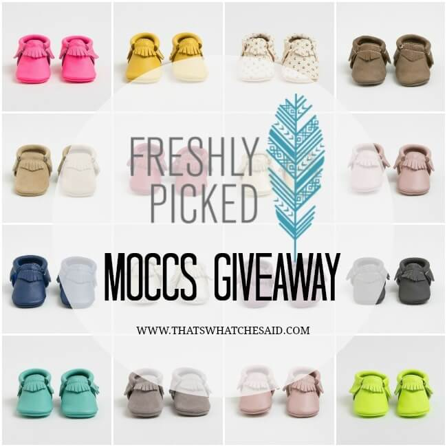 Freshly Picked Moccs Giveaway