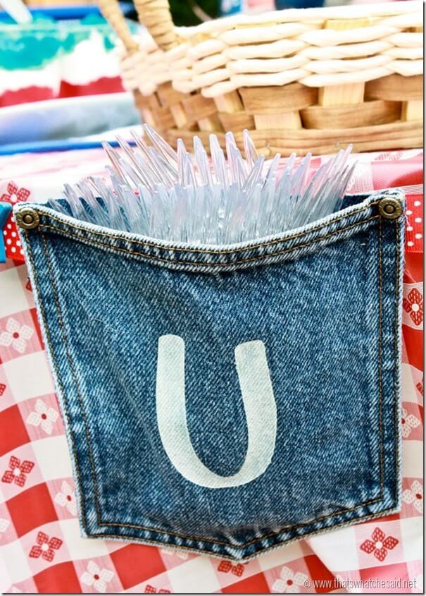 Jean Pocket USA Banner used for Utensils at thatswhatchesaid.com