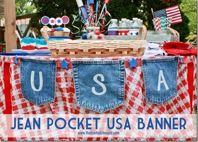 Patriotic Jean Pocket Banner at thatswhatchesaid.net