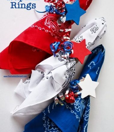 Patriotic Napkin Rings at www.thatswhatchesaid.com