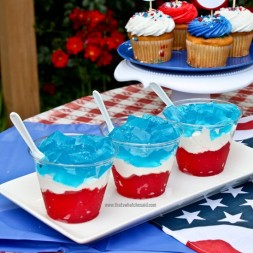 Red, White & Blue Layered Jello