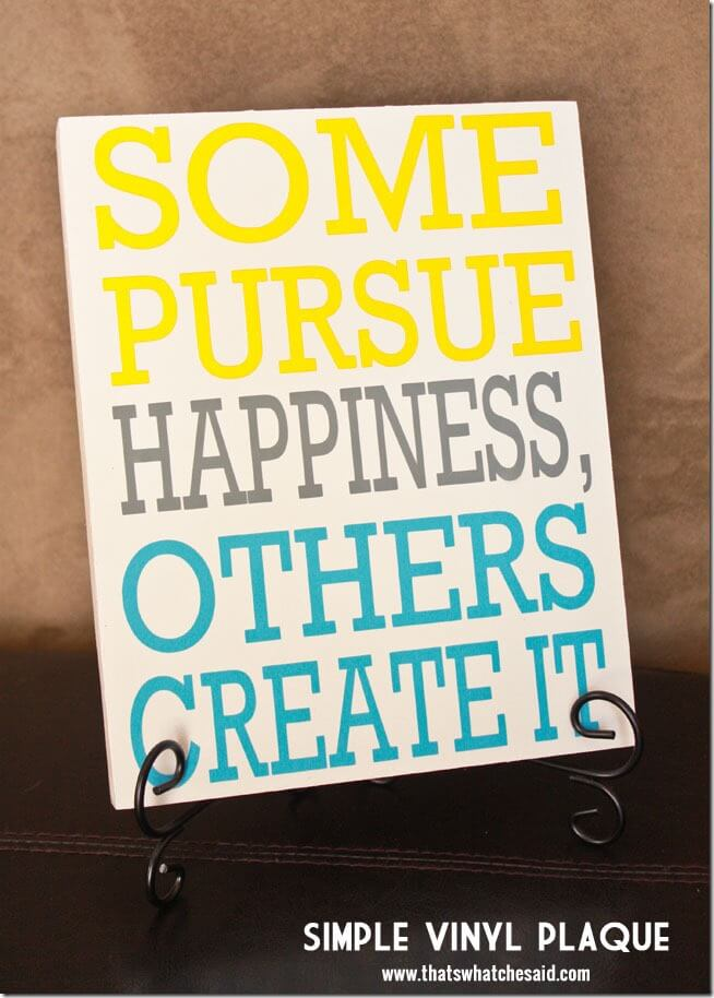 Happiness Plaque + Free Cut File