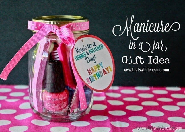Handmade Gifts in a Jar at thatswhatchesaid.com