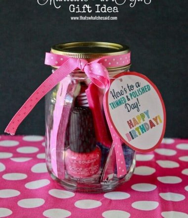 Manicure in a Jar + Free Printable at thatswhatchesaid.com