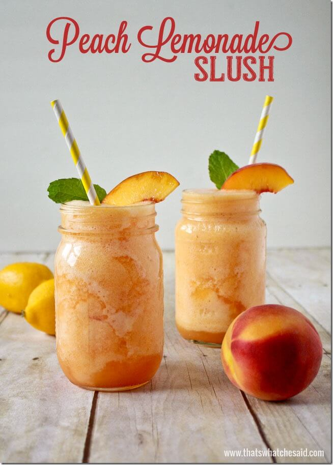 Peach lemonade slush Recipe