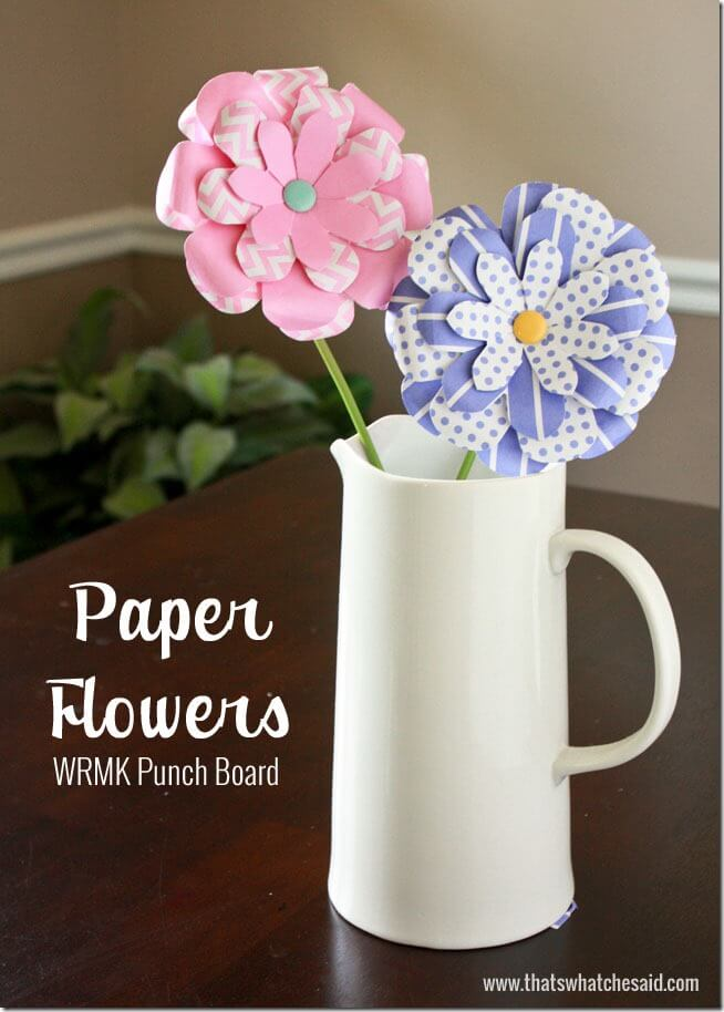 Paper Fowers using Flower Punch Board at thatswhatchesaid.com