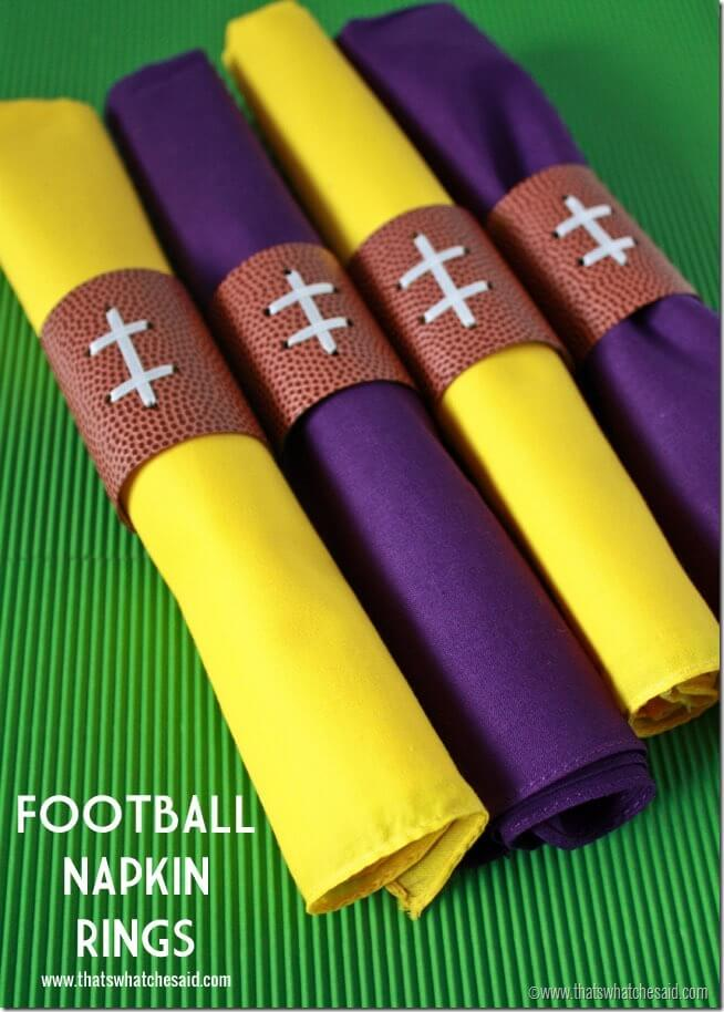 Football Napkin Rings at thatswhatchesaid.com
