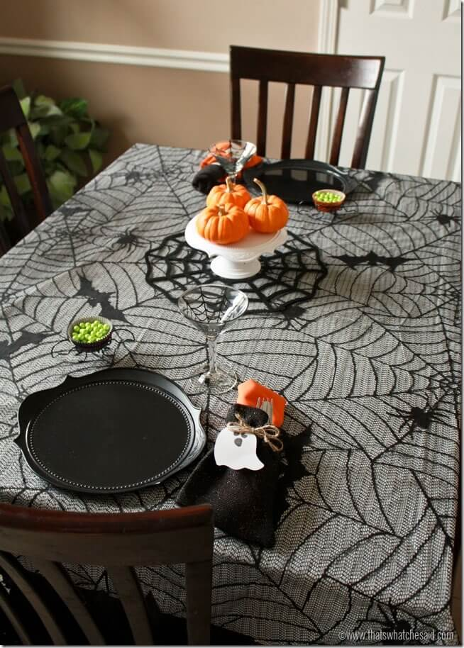 Halloween Tablescape at thatswhatchesaid.net