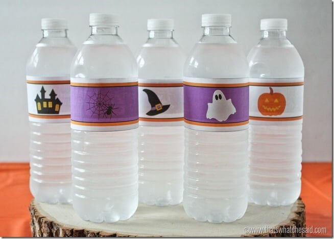 Free Printable Halloween Water Bottle Labels at thatswhatchesaid.com
